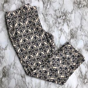 Loft • Marissa Cropped Navy & Tan Dress Pants